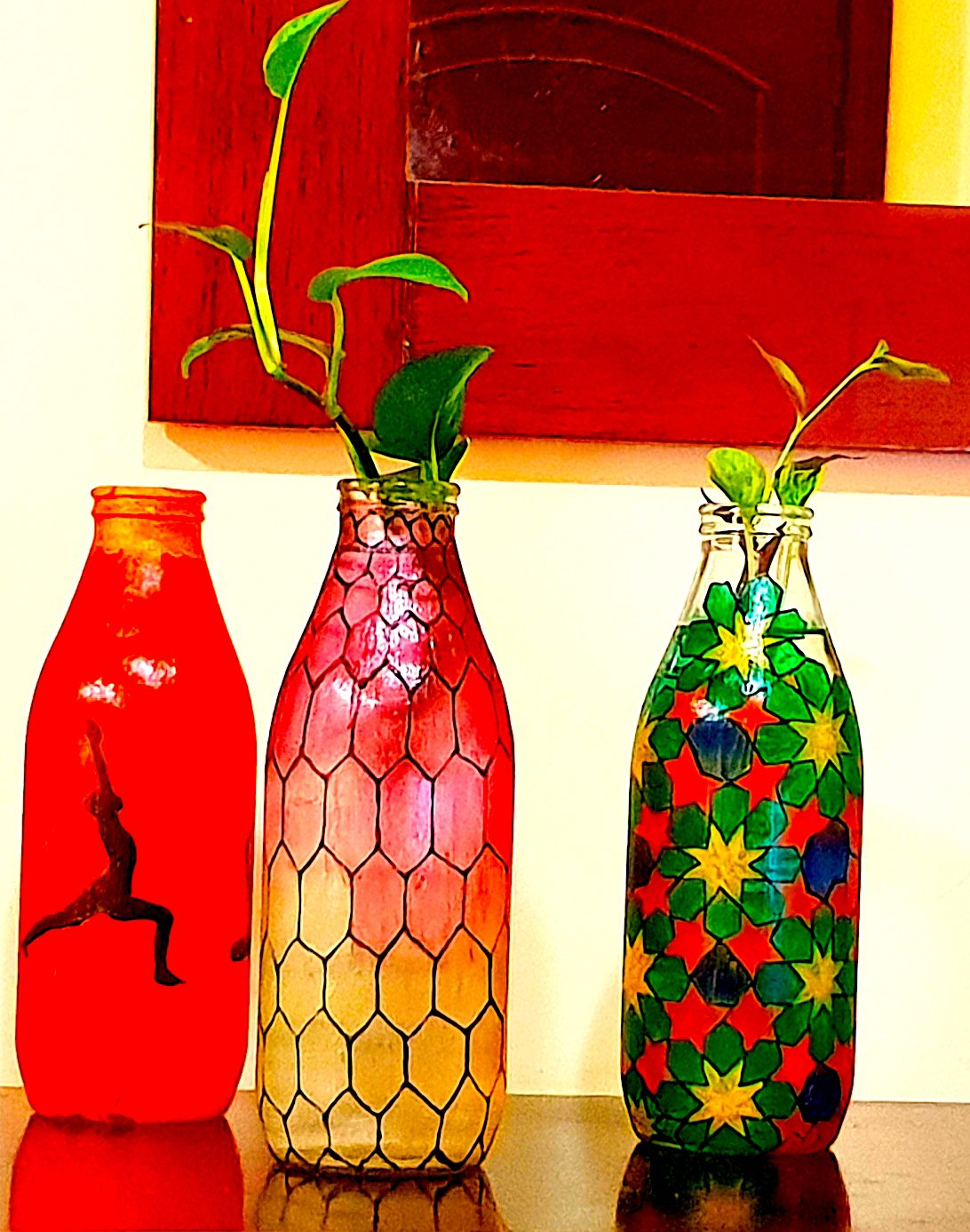 Easy Way To Paint Glass And Glass Bottles Nsd Gallery